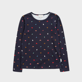 Paul Smith Girls' 7+ Years Navy 'Mixed Charms' Print T-Shirt