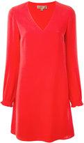 MICHAEL Michael Kors longsleeve V-neck dress - women - Silk/Polyester - 0