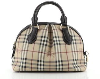 Burberry Bowling Bag Vintage Check Small