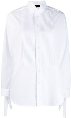 Jejia pleated front tuxedo shirt