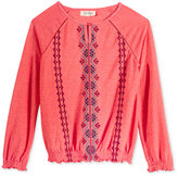 Jessica Simpson Ayil Embroidered Top, Big Girls (7-16)