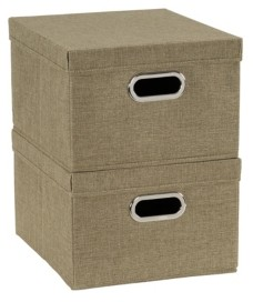 Household Essentials 2-Pc. Moss Storage Box Set
