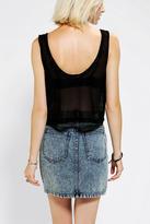 Sparkle & Fade Crochet Zip-Pocket Cropped Top