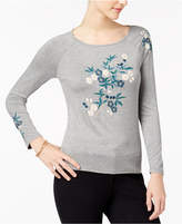 Cable & Gauge Embroidered Raglan-Sleeve Top