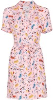 HVN Maria Miami print mini dress