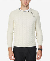 Nautica Men's Shoulder-Closure Cable Knit Sweater