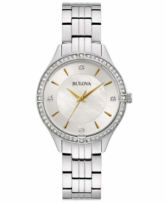 Bulova Women's Analogue Quartz Watch with Stainless Steel Strap 96L282