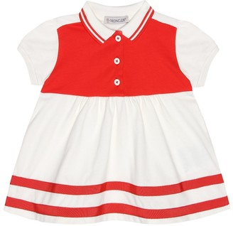 Moncler Enfant Baby stretch cotton pique dress