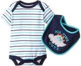 Bon Bebe Bib & Bodysuit Set (Baby) - Big Time Cute-0-3 Months