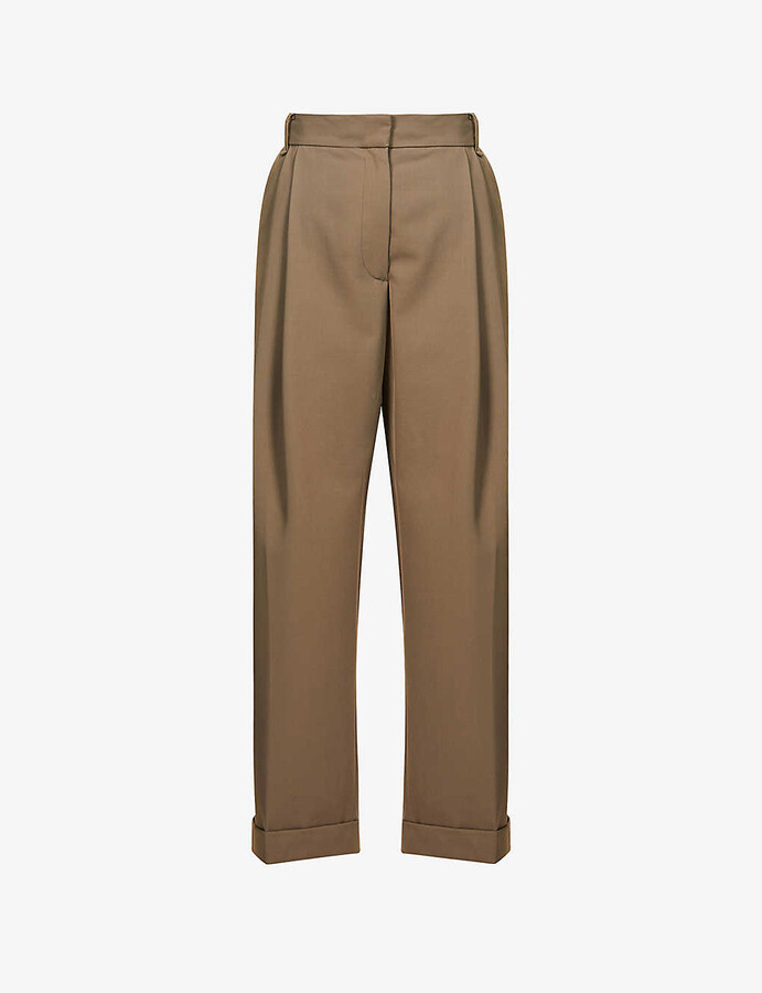 Thumbnail for your product : Camilla And Marc Rhine wide-leg high-rise wool-blend trousers
