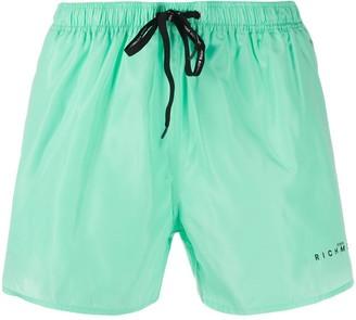 John Richmond Stephanie logo-print swim trunks