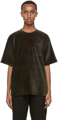 Needles Khaki Velour Pocket T-Shirt
