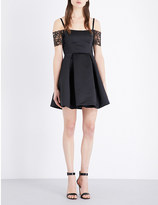 Sandro Ondine lace and satin dress