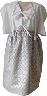 Carven White Silk Dresses