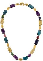 Marco Bicego 18K Murano Mixed Stone Rectangular Collar Necklace w/ Tags