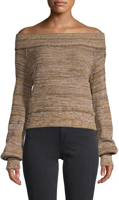 Free People Textured Cotton-Blend Sweater
