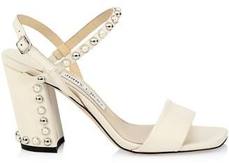 Jimmy Choo Aadra Embellished Leather Slingback Sandals