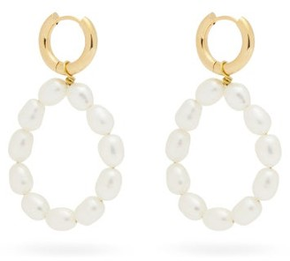 Timeless Pearly Pearl & 24kt Gold-plated Earrings - Pearl