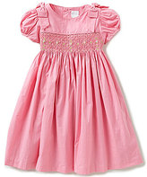 Edgehill Collection Little Girls 2T-4T Floral-Embroidered Smocked Puffed-Sleeve Dress