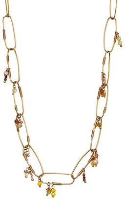 Gas Bijoux Cocoa 14K Goldplated Oval-Link Beaded Necklace
