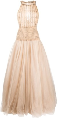 Valentino Pre-Owned 2012 Sleeveless Tulle Gown