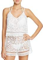 Parker Delta Combo Romper Swim Cover-Up