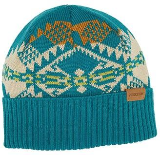 Pendleton Merino Knit Cap (Journey West Turquoise) Baseball Caps