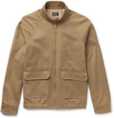 A.P.C. Cotton and Linen-Blend Twill Blouson Jacket