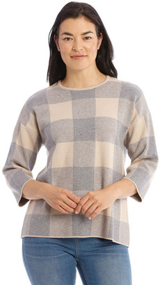 Regatta Check 3/4 Sleeve Jumper