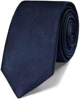 Charles Tyrwhitt Navy silk classic plain slim tie