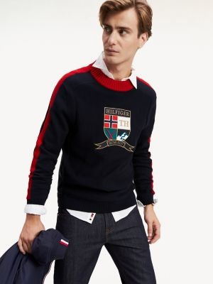 Tommy Hilfiger Archive Inspired Embroidery Jumper