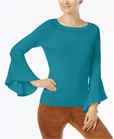 INC International Concepts Anna Sui Loves Petite Bell-Sleeve Sweater, Created for Macy's