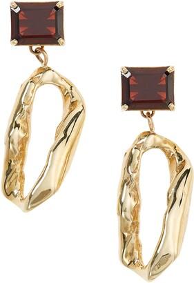 FARIS Terra Garnet Drop Earrings