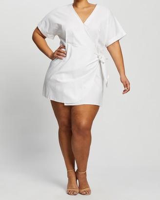 Atmos & Here Sedona Linen-Blend Mini Dress