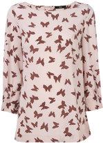 Steffen Schraut butterfly print blouse - women - Silk/Spandex/Elastane - 34