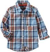 Osh Kosh Woven Fashion Top (Toddler/Kid) - Plaid - 2T