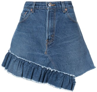 Icons reconstructed Levi's 501 skirt
