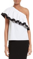Milly Women's One-Shoulder Ruffle Top