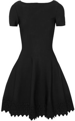 Alaia Laser-cut Knitted Mini Dress