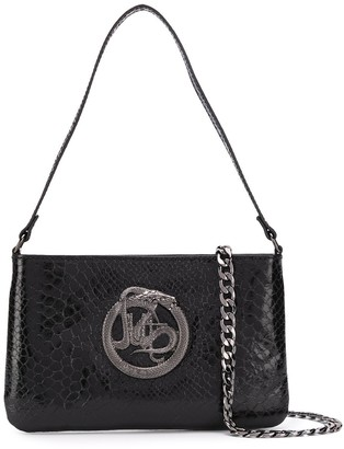 Just Cavalli Serpent Plaque Cross Body Bag