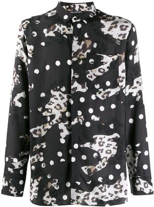 Neil Barrett Clash Leopard Print Shirt