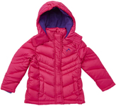 Fuchsia Quilted Hooded Puffer Coat - Girls