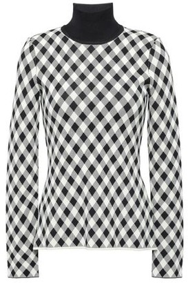 Pringle Checked Knitted Turtleneck Sweater