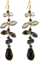 Nakamol Cascading Crystal Dangle Earrings, Black Mix