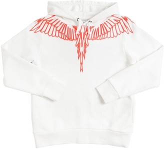 Marcelo Burlon County of Milan Wings Printed Cotton Sweatshirt Hoodie