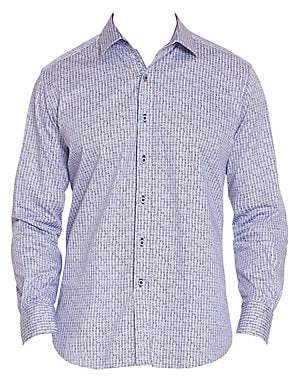 Robert Graham Men's Kirk Checker Geo Print Shirt