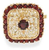 Tatitoto Gioie Women's Brooch in 14k Gold with Garnet, 10 Grams