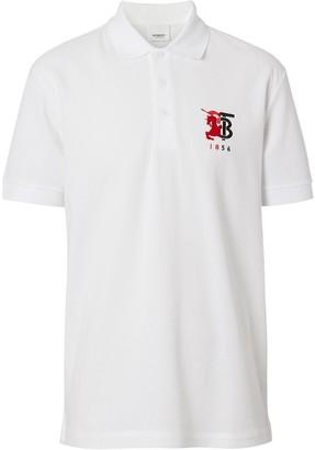 Burberry contrast logo polo shirt