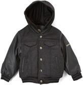 English Laundry Charcoal Retro Varsity Coat - Toddler