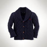 Cotton Cabled Shawl Cardigan